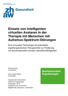 Einsatz von intelligenten virtuellen Avataren in der Therapie mit ...