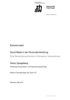 Bachelorarbeit Social Media In Der Personalentwicklung Eine
