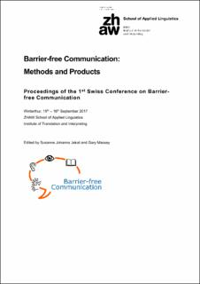 Barrier-free Communication: Methods and Products